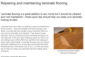 The Use of a Special Laminate Floor Cleaner and Other Tips for Floors